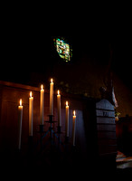 Candles and Stained Glass